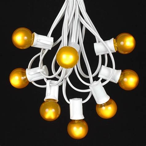 Globe Shaped Outdoor G30 Light String Sets Novelty Globe String Lights White Wire