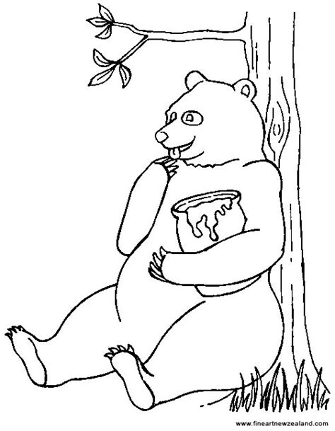 honey bear coloring pages free coloring pages of honey pot