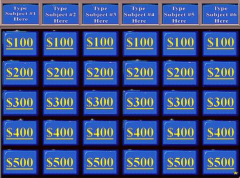 jeopardy template ppt with sound best template design