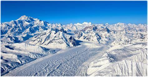 mountains  himalayas  peaks slopes snow ice sky