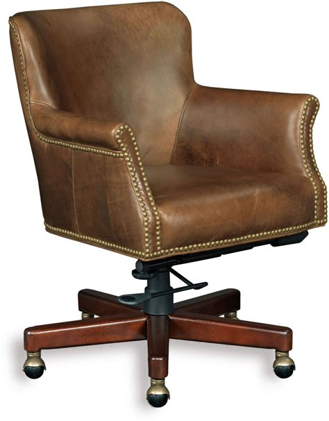Dwight Brown Leather Tilt Swivel Chair From Hooker Brown Leather Swivel Chair