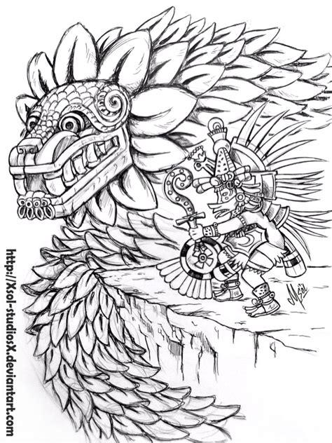 quetzalcoatl coloring page double quetzalcoatl by xsol studiosx on deviantart