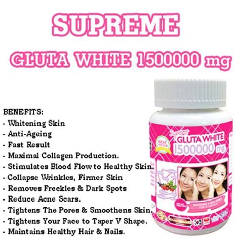 supreme gluta white 1500000 mg thailand best selling