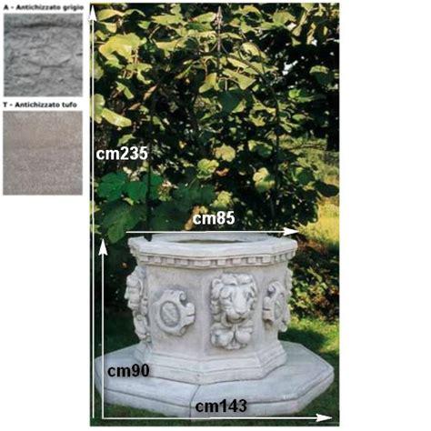 lioni da giardino usati pozzi da giardino barocco 706 pmc prefabbricati e arredo