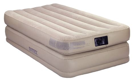 comfort air bed twin raised comfort air bed and pump