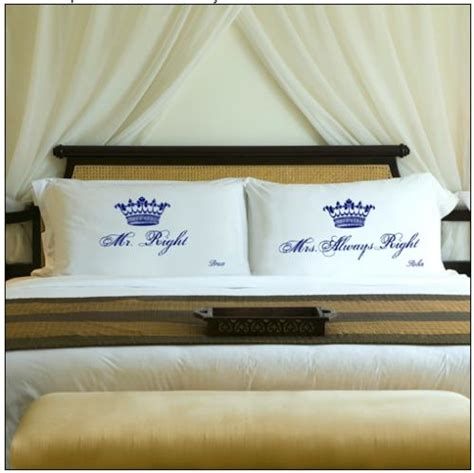 his and hers bed sheets personalized his and hers royal correctness pillowcases at