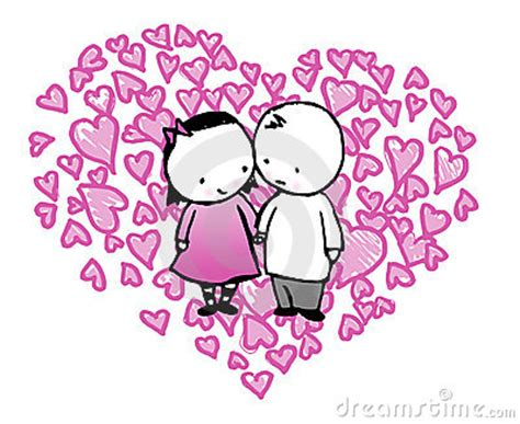 images of love cartoons cartoon couple in love heart stock images image 8003374