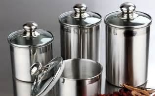 Stainless Steel Canister Set amazon com canister set stainless steel 4 piece with
