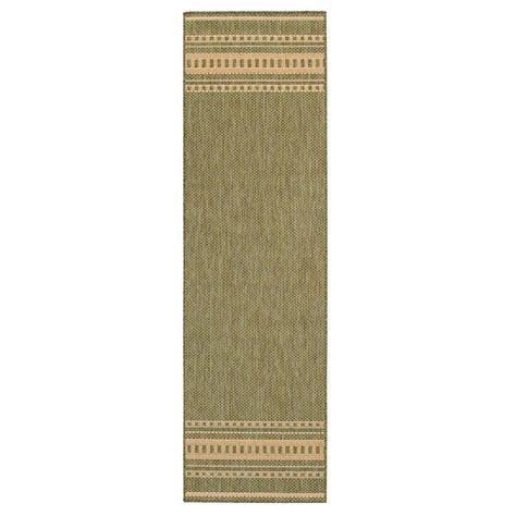 Home Depot Pueblo by Home Decorators Collection Pueblo Design Green 2 Ft 3 In X 7 Ft 10 In Rug Runner