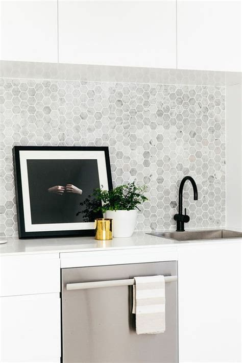 Hexagon Tile Kitchen Backsplash 25 Stylish Hexagon Tiles For Kitchen Walls And Backsplashes Home Design And Interior