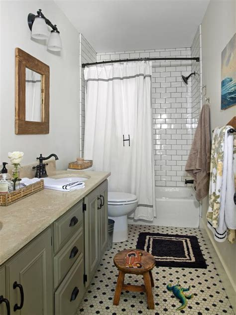 traditional boys bathroom with white subway tile hgtv