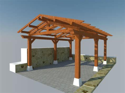 porche madera kit estructuras en kit pergomob
