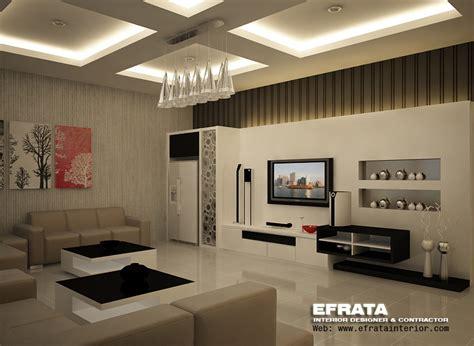Living Room Minimalis gallery efrata desain kontraktor interior arsitek