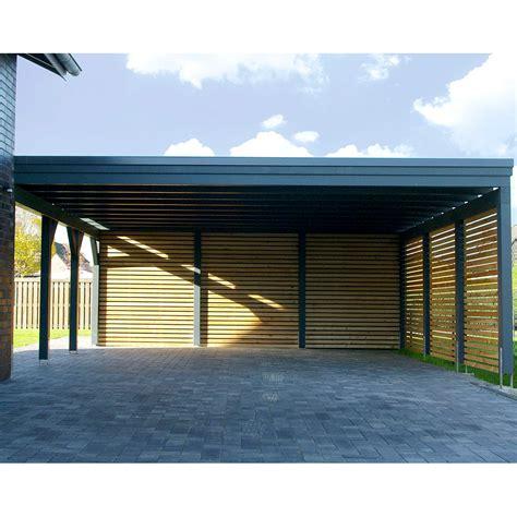 steda carport carport flachdach leimholz holz 8x7 m 800x700 cm