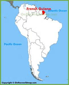 guiana map south america