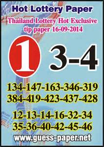 New thai lotto hot tip exclusive special paper 16 09 2014 new thai