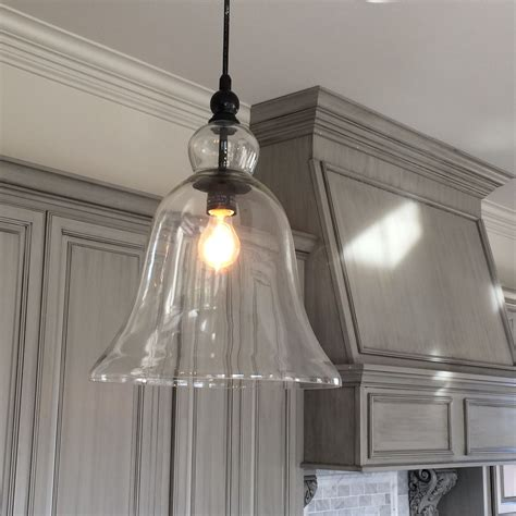 kitchen large glass bell hanging pendant light favorite