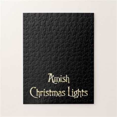 amish christmas lights jigsaw puzzle zazzle
