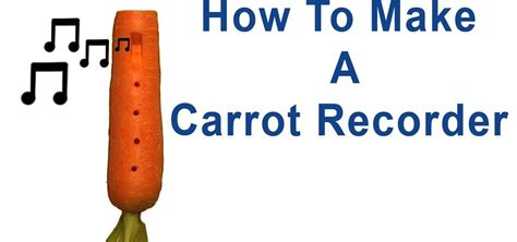 how to make a carrot recorder 171 other instruments