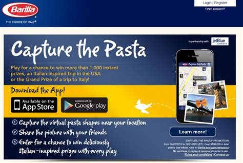Barilla Sweepstakes - barilla capture the pasta sweepstakes