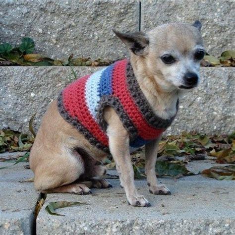chihuahua sweater knitting pattern crochet pattern small sweater chihuahua style