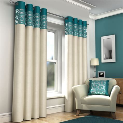cream teal curtains skye ring top lined eyelet curtains teal tony s textiles
