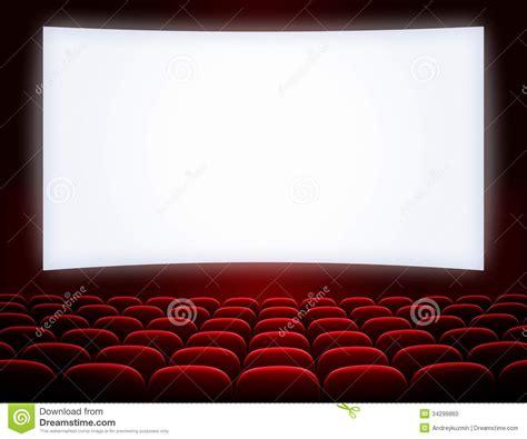 Armchair Cinema Cinema Screen With Seats Stock Photo Image 34299860