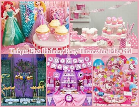 themes for girl 1st birthday party 10 unique first birthday party themes for baby girl 1st