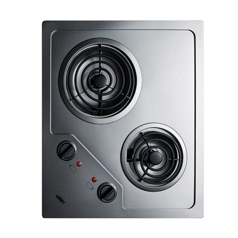 summit cooktop summit appliance 21 in coil electric cooktop in stainless