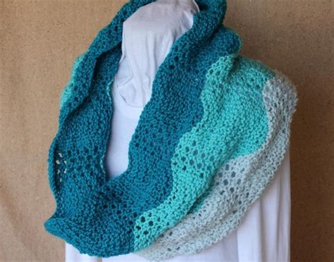 easy cowl knitting pattern lace ripple knit cowl pattern by kimberleeg craftsy