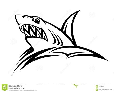 danger shark tattoo stock vector image of danger attack