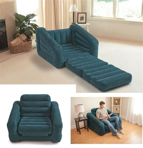 inflatable pull  chair seat bed couch folding lounge