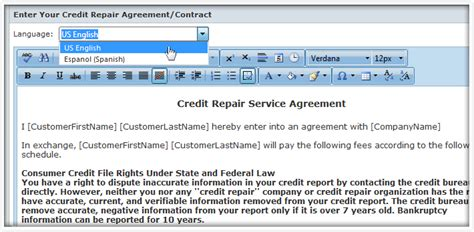 Credit Repair Contract Florida pin credit repair portal on