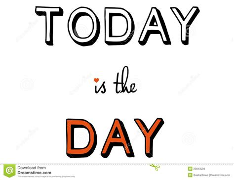 which day today today is the day vector stock photos image 29013093