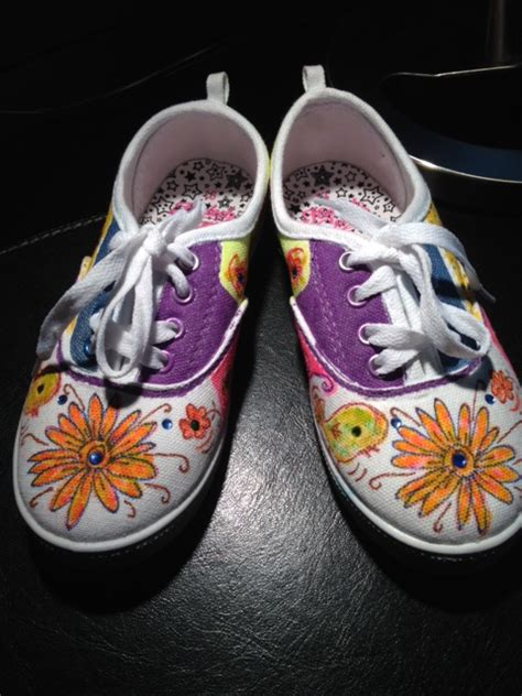 painted canvas shoes cotton threads