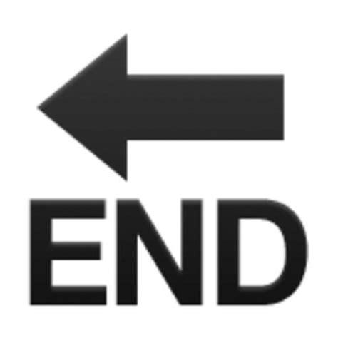 Emoji Ending | end with leftwards arrow above emoji u 1f51a