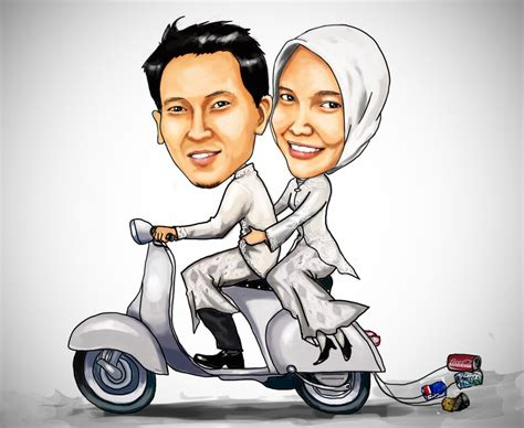 membuat animasi video pernikahan karikatur pernikahan wedding carricature my cg arts
