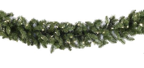 lighted christmas garland douglas fir prelit christmas
