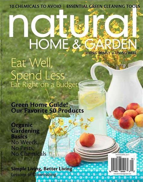 cover shoot for natural home and garden magazine thomas