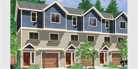multiplex housing plans small triplex house plans multi family homes row house plans