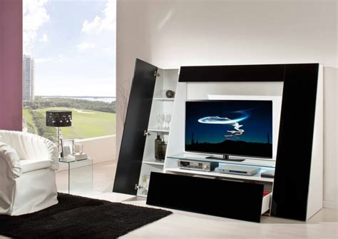 unit tv appliances modern and futuristic entertainment unit with