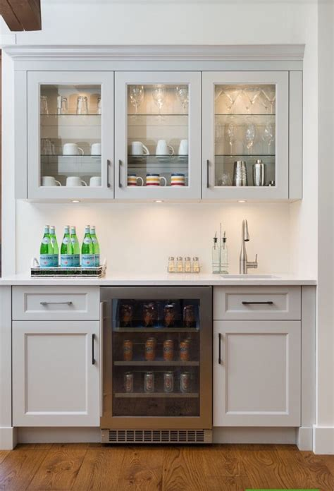 kitchen ideas with white washed cabinets minimalist kitchen design with beverage bar ideas