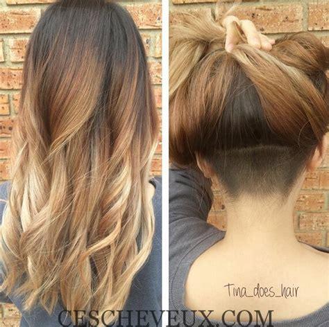 undercut hairstyle women long hair 1000 ideas about nape 30 coiffures undercut impressionnants pour des filles 2016