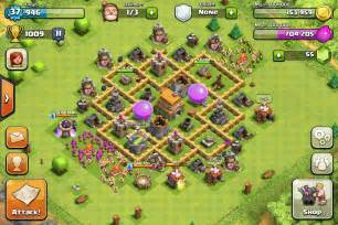 coc strong base structures for lvl6 townhall clash of clans base designs per town hall walkthrough