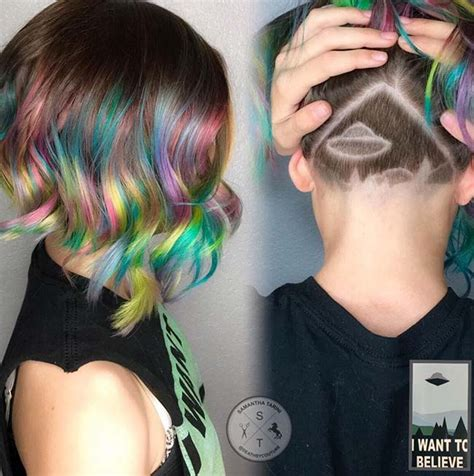 hair cut styles like the aline 45 undercut hairstyles with hair tattoos for women