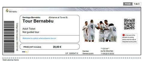 entradas visita santiago bernabeu biglietto del tour bernabeu fotograf 237 a de estadio
