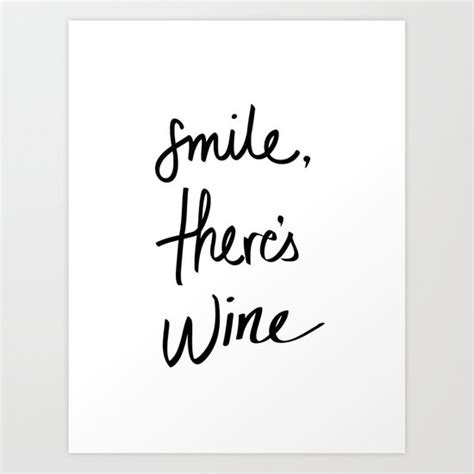 smile wine art print  note    print shop
