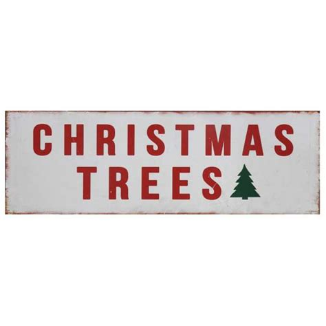 farmhouse metal christmas trees sign a cottage in the city