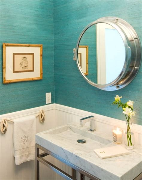 decorative bathroom mirrors coastal nautical style