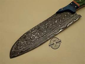 Kitchens Knives Damascus Kitchen Knife Custom Handmade Damascus Steel Kitchen